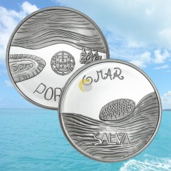 Portugal 2019 5€ O Mar Ag PROOF