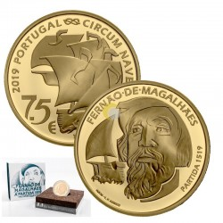 Portugal 2019 7,5€ Magellan Gold PROOF