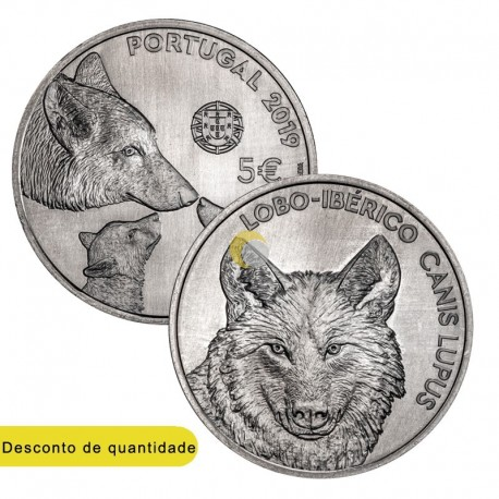Portugal 2019 5€ Wolf