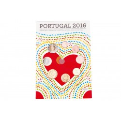 Portugal 2016 Coin Set FDC
