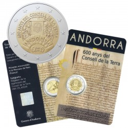 Andorra 2019 2€ 600 Years Council of Earth