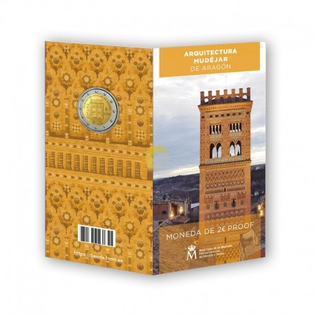 Spain 2020 2€ Architecture of Aragon PROOF