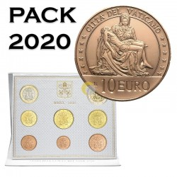 Vatican 2020 Coin Set + 10€ Michelangelo