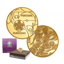 Portugal 2020 2,5€ UEFA Gold PROOF