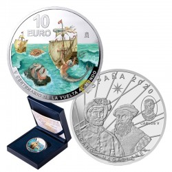 Spain 2020 10€ 1st Round-the-World Voyage PROOF