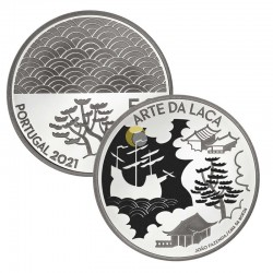 Portugal 2021 5€ The Art of Lacquer AG PROOF