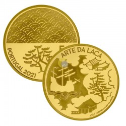 Portugal 2021 5€ The Art of Lacquer AU PROOF