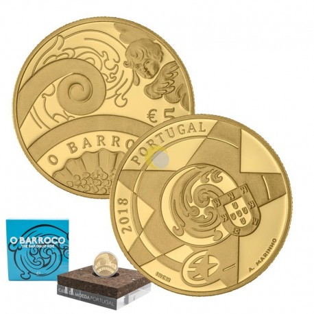 Portugal 2018 5€ O Barroco - Ouro PROOF