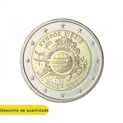 Chipre 2012 2€ 10 Anos do Euro