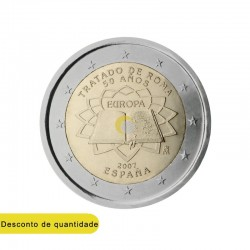 Spain 2007 2€ Treaty of Rome