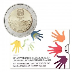 Portugal 2008 2€ Human Rights PROOF